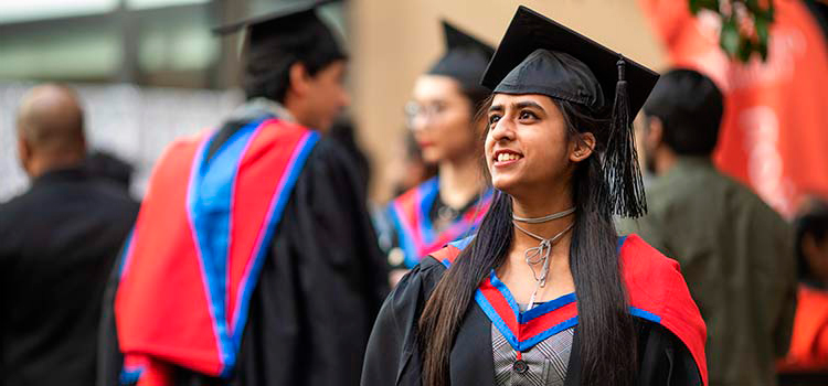 A student at CSU Melbourne graduation