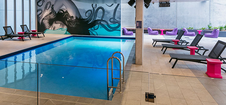 Swimming pool at Student One accommodation Brisbane