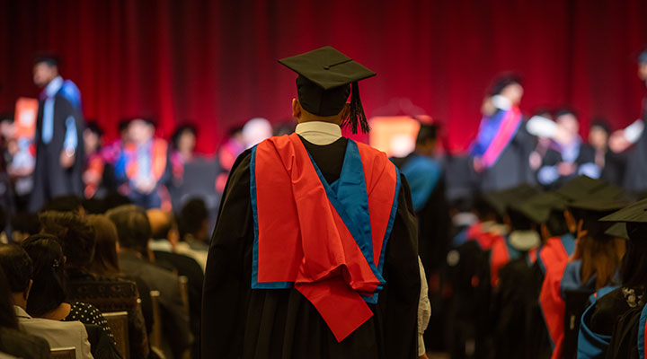 Student graduating from Charles Sturt University Study Centres